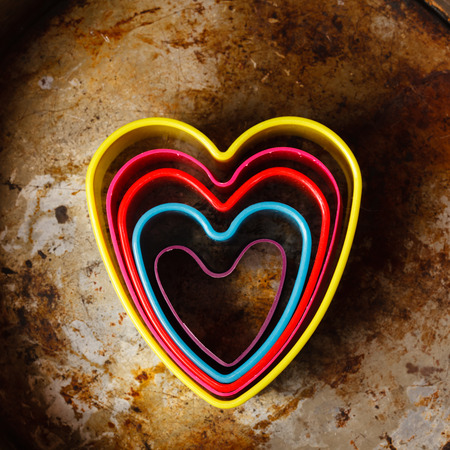 color heart cutters photo