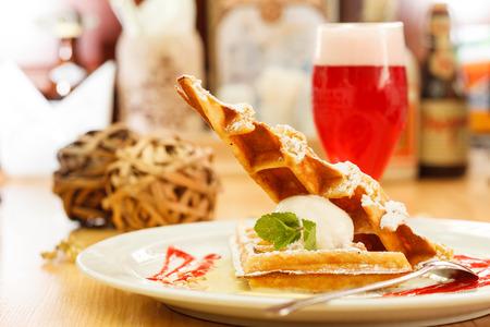 waffles: gofres belgas