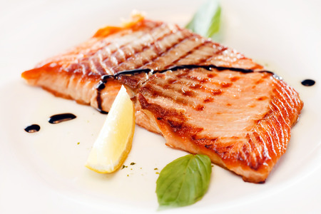 salmon steak: salmon steak
