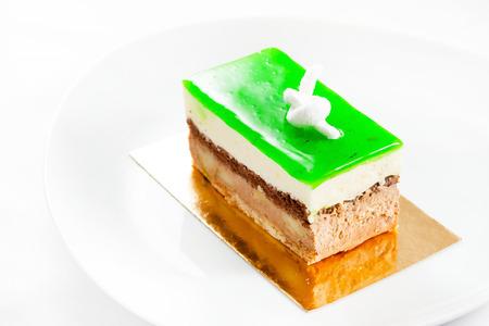 custard slices: fresh pastry Stock Photo