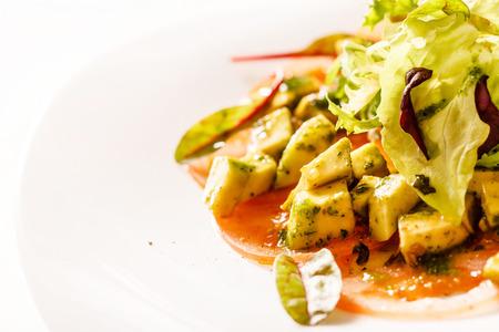 carpaccio: vegetarian carpaccio