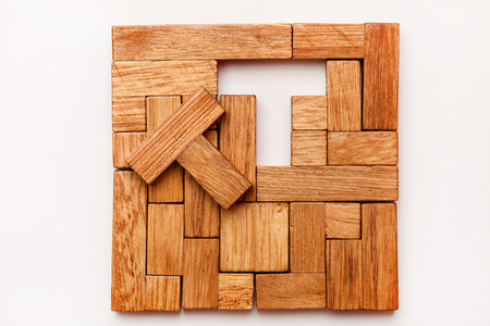 parallelogram: Puzzle Game Stock Photo