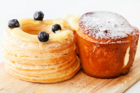 rum cake: french pastries Stock Photo