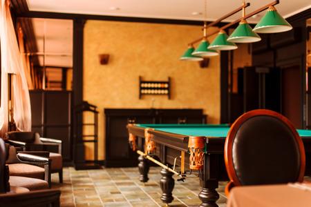 billiards hall: billiards room Stock Photo