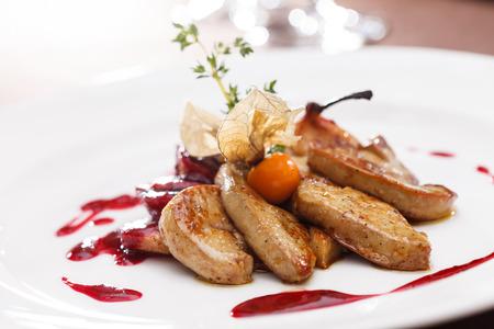 foie gras with sauce Standard-Bild