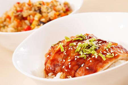eel on rice,unaju, japanese unagi cuisine photo