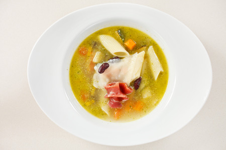 haricot: warm soup with black haricot