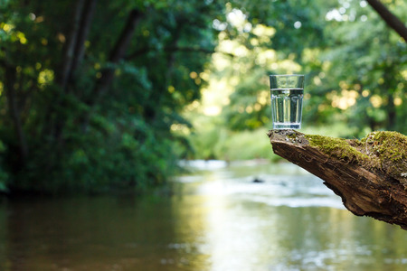 water spring: Clean water (healthy concept) Stock Photo