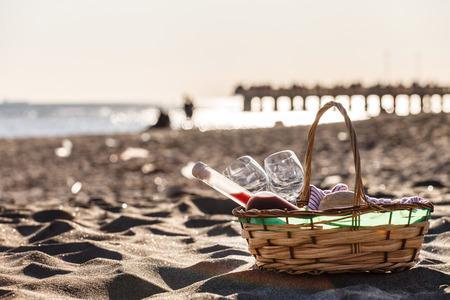 picnic: picnic on the beach