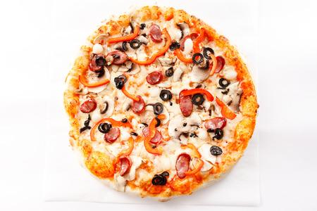 pizza: pizza sabrosa
