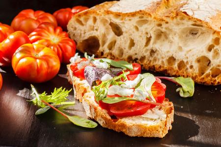 Bruschetta à la tomate Banque d'images - 39962143