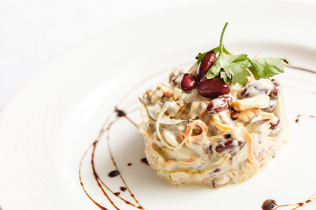 russian salad: ensalada rusa Foto de archivo