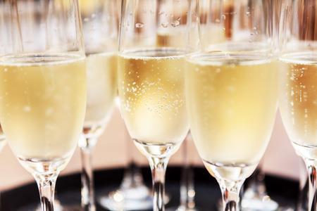recepcion: gafas de champaña Foto de archivo