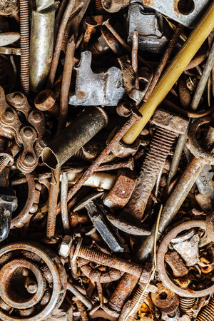 holdfast: old and rusty hand tool