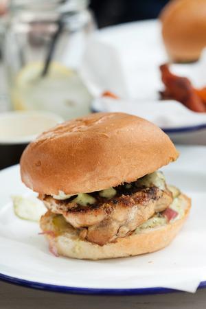 hamburguesa de pollo: