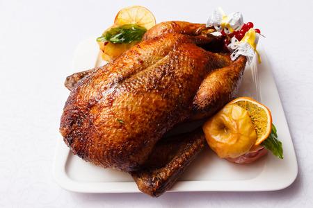 christmas goose: Roasted turkey