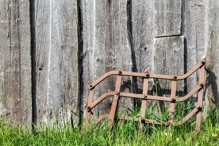 harrow: Old garden tools. Harrow.
