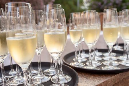 Champagne glasses 版權商用圖片