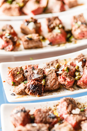 catering: meat on the catering table Stock Photo