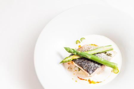 romatic: white fish with asparagus