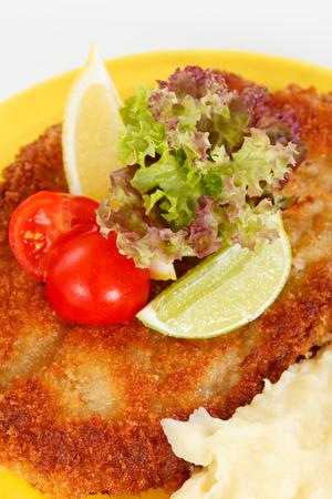 schnitzel: schnitzel with potatoes Stock Photo