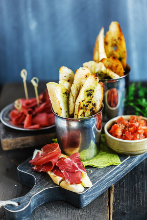 food and wine: tasty appetizer