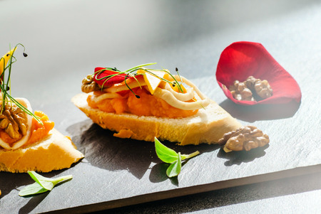 canape: canape with salmon