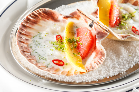 scallops: scallops on the party table