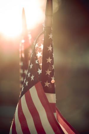 Amerikanische Flaggen Standard-Bild - 41864287