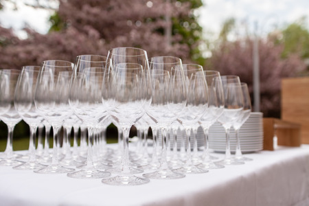 cocktail glasses: catering food