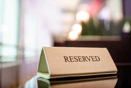 Restaurant gereserveerde tafel