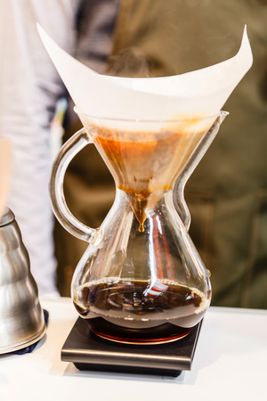 cofe: Making brewed coffee from steaming filter drip style