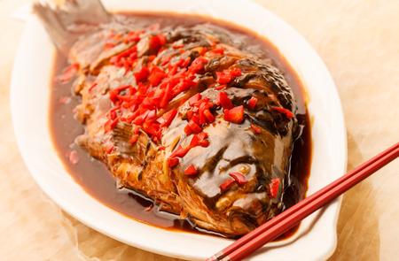 fish sauce: chinese carp Stock Photo