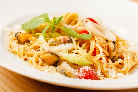 seafood: seafood pasta