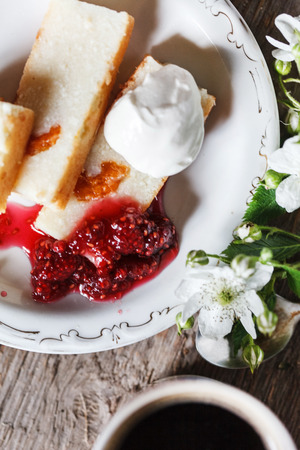 cottage cheese: cottage cheese cake Stock Photo