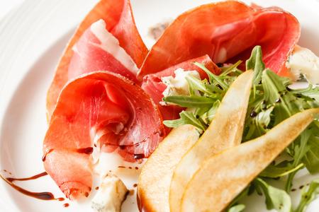 non vegetarian: salad with ham Stock Photo