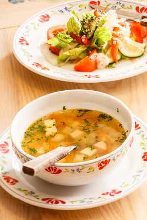 cold soup: dinner