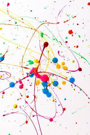Colorful bright ink splashes Stock Photo