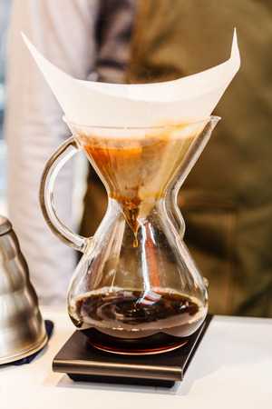 brewed: Making brewed coffee from steaming filter drip style