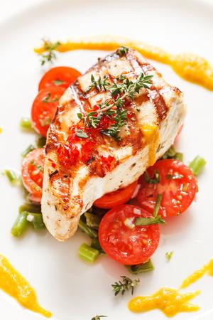 야채와 생선 스테이크 스톡 콘텐츠