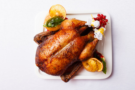 traditional christmas dinner: Roasted turkey