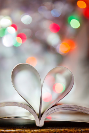 book pages: heart from book pages