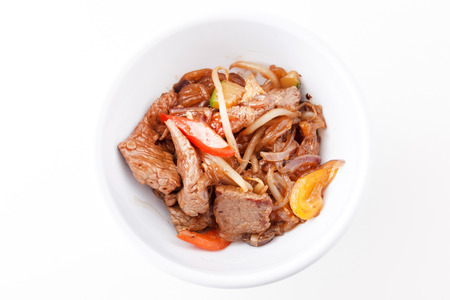 mee pok: noodle with beef Stock Photo