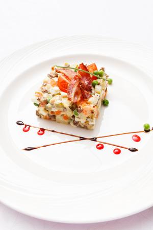 russian salad: Russian salad Stock Photo