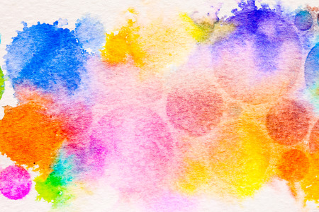 yellow paint: watercolor circle splashes