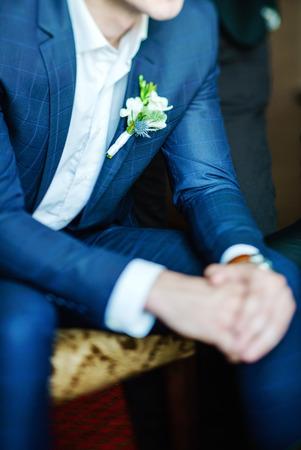 white suit: elegant groom