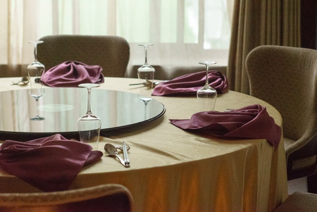 dinning table: Dinning table in restaurant