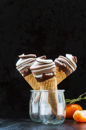 helado de chocolate: el helado de chocolate