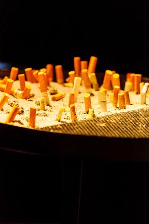 ashtray: Ashtray and cigarettes