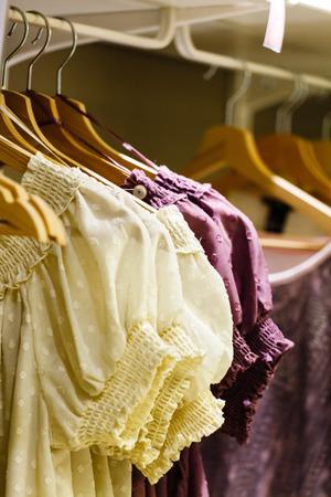 hangers: clothing on hangers